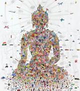 <b>Buddha</b> Shakyamuni  (2007) by Gonkar Gyatso.  Facing page: Gonkar Gyatso ( g...