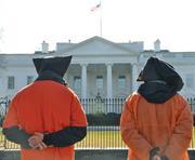 Flickr&#x2F;Medill DC  Activists <b>protest</b> the enhanced interrogation and indefini...