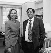 Hillary Clinton discussing the Politics of Meaning with Michael <b>Lerner</b> at h...