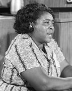 Fannie Lou Hamer, American civil rights <b>leader</b>, at the Democratic National ...