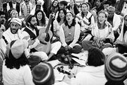 Participants in a Jewish festival hosted by Wilderness <b>Torah</b>   Participants...